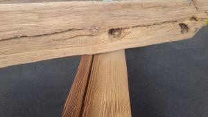 otryskáné dřevo